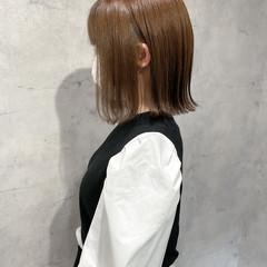 外ハネボブ ナチュラル ショートヘア ショートボブ ヘアスタイルや髪型の写真・画像