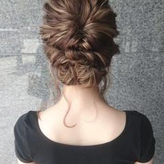 結婚式 こなれ感 エレガント 上品 ヘアスタイルや髪型の写真・画像