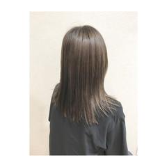 セミロング 上品 外国人風カラー 透明感 ヘアスタイルや髪型の写真・画像