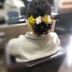 成人式 アップスタイル ヘアセット 成人式ヘア ヘアスタイルや髪型の写真・画像
