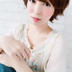 大人女子 ナチュラル ショート ヘアアレンジ ヘアスタイルや髪型の写真・画像
