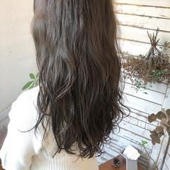 パーマ デート ガーリー セミロング ヘアスタイルや髪型の写真・画像