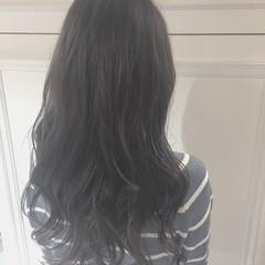 モード ロング アッシュ リラックス ヘアスタイルや髪型の写真・画像