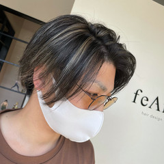 メンズ ミディアム 白髪染め メンズカラー ヘアスタイルや髪型の写真・画像