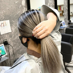 外国人風 外国人風カラー グレージュ ナチュラル ヘアスタイルや髪型の写真・画像