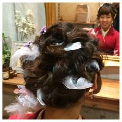コンサバ ヘアアクセ 成人式 ヘアアレンジ ヘアスタイルや髪型の写真・画像