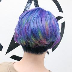 ブリーチ ショート ホワイトブリーチ ブリーチオンカラー ヘアスタイルや髪型の写真・画像