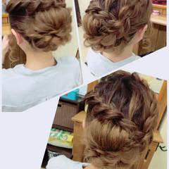 セミロング デート ガーリー アウトドア ヘアスタイルや髪型の写真・画像