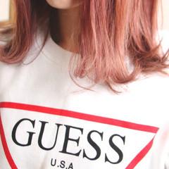 ミディアム ブリーチ ストリート ロブ ヘアスタイルや髪型の写真・画像