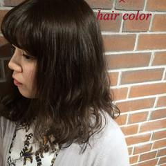 ブラウン ナチュラル パーマ フェミニン ヘアスタイルや髪型の写真・画像