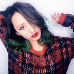 グラデーションカラー ハイライト ストリート 渋谷系 ヘアスタイルや髪型の写真・画像