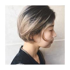 ストリート ミルクティー ハイトーン ミルクティーベージュ ヘアスタイルや髪型の写真・画像