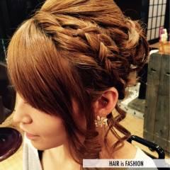 ヘアアレンジ ガーリー 愛され まとめ髪 ヘアスタイルや髪型の写真・画像