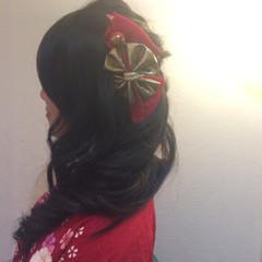 ヘアアレンジ ロング 着物 謝恩会 ヘアスタイルや髪型の写真・画像