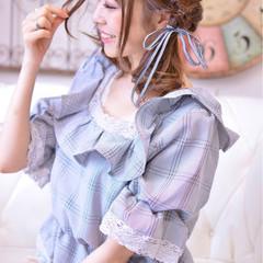 秋 デート ミディアム ゆるふわ ヘアスタイルや髪型の写真・画像
