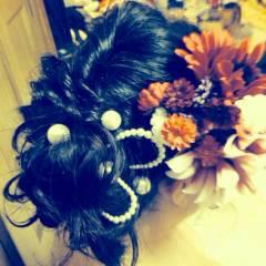 黒髪 着物 ヘアアレンジ ヘアスタイルや髪型の写真・画像