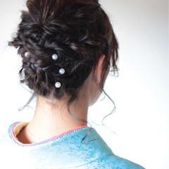 ミディアム 簡単ヘアアレンジ ヘアアレンジ くるりんぱ ヘアスタイルや髪型の写真・画像