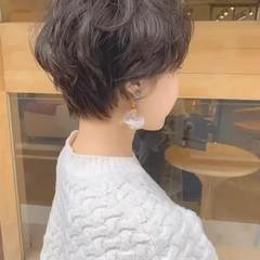 外国人風 マッシュ パーマ ショート ヘアスタイルや髪型の写真・画像