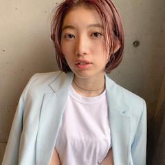 簡単スタイリング 名古屋市 ナチュラル 切りっぱなしボブ ヘアスタイルや髪型の写真・画像
