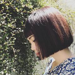 オン眉 ストレート ストリート 大人かわいい ヘアスタイルや髪型の写真・画像