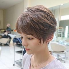 マッシュウルフ ショート ショートヘア ナチュラル ヘアスタイルや髪型の写真・画像