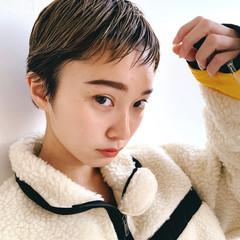 ショートヘア ハンサムショート 大人かわいい ショート ヘアスタイルや髪型の写真・画像