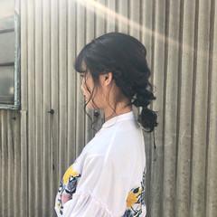謝恩会 ヘアアレンジ 簡単ヘアアレンジ ガーリー ヘアスタイルや髪型の写真・画像