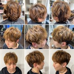 マッシュヘア スパイラルパーマ ストリート メンズパーマ ヘアスタイルや髪型の写真・画像