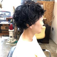 マッシュ ショートマッシュ パーマ 小顔ヘア ヘアスタイルや髪型の写真・画像