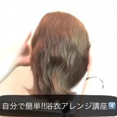 ヘアアレンジ ミディアム ショート 簡単ヘアアレンジ ヘアスタイルや髪型の写真・画像