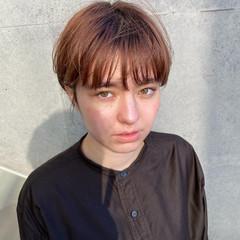 アンニュイほつれヘア ショート ショートヘア ナチュラル ヘアスタイルや髪型の写真・画像