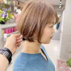 インナーカラー ベリーショート ショート ナチュラル ヘアスタイルや髪型の写真・画像