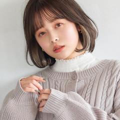 韓国ヘア イヤリングカラー インナーカラー レイヤーボブ ヘアスタイルや髪型の写真・画像