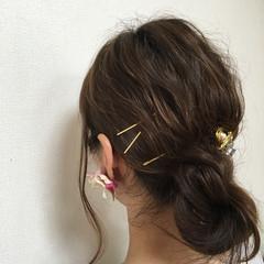 パーマ セミロング 外国人風 ヘアアレンジ ヘアスタイルや髪型の写真・画像