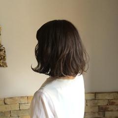 外国人風 暗髪 ボブ アッシュ ヘアスタイルや髪型の写真・画像