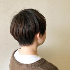 ミニボブ ショート ナチュラル ショートヘア ヘアスタイルや髪型の写真・画像