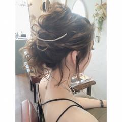 ヘアアレンジ デート ガーリー 簡単ヘアアレンジ ヘアスタイルや髪型の写真・画像