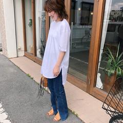 マッシュウルフ 大人かわいい 簡単ヘアアレンジ パーマ ヘアスタイルや髪型の写真・画像