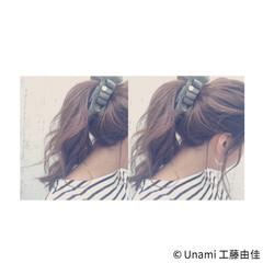 ショート フェミニン ルーズ ミディアム ヘアスタイルや髪型の写真・画像
