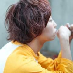 ストリート オレンジ 秋 オン眉 ヘアスタイルや髪型の写真・画像
