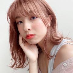 レイヤーカット 小顔 前髪あり 透明感カラー ヘアスタイルや髪型の写真・画像