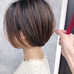 大人ショート ショートボブ ミニボブ ショート ヘアスタイルや髪型の写真・画像