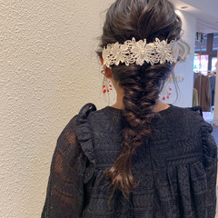 簡単ヘアアレンジ キッズ 結婚式 ヘアアレンジ ヘアスタイルや髪型の写真・画像