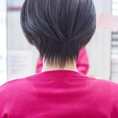 ショートボブ ショートカット フェミニン 小顔ショート ヘアスタイルや髪型の写真・画像