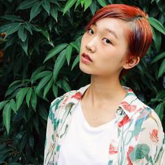 ベリーショート ショート ストリート 秋 ヘアスタイルや髪型の写真・画像