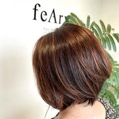 大人ハイライト 髪質改善トリートメント 大人可愛い ナチュラル ヘアスタイルや髪型の写真・画像