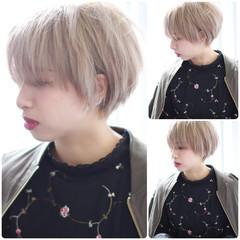 外国人風カラー ダブルカラー ショート ガーリー ヘアスタイルや髪型の写真・画像