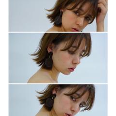 ピュア アッシュ ボブ ナチュラル ヘアスタイルや髪型の写真・画像