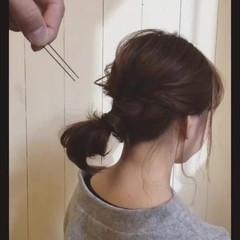 簡単ヘアアレンジ ヘアアレンジ フェミニン 大人かわいい ヘアスタイルや髪型の写真・画像