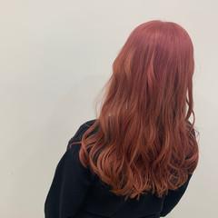 ピンク フェミニン ピンクベージュ ベージュ ヘアスタイルや髪型の写真・画像